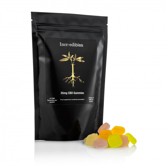 25mg Gummy CBD squares by Incr-edibles (15 Pack)