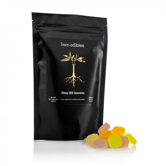 25mg Gummy CBD squares by Incr-edibles (30 Pack)
