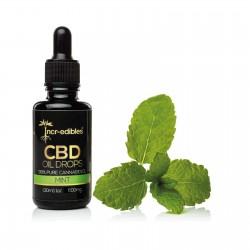 Mint CBD Oil Drops 300mg by Incr-edibles