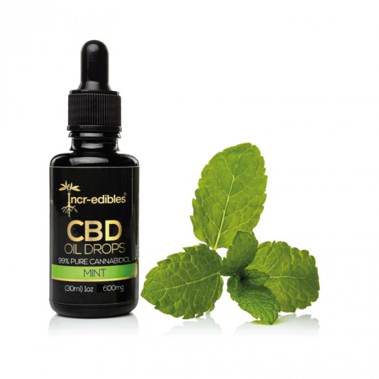 Mint CBD Oil Drops 300mg by Incr-edibles