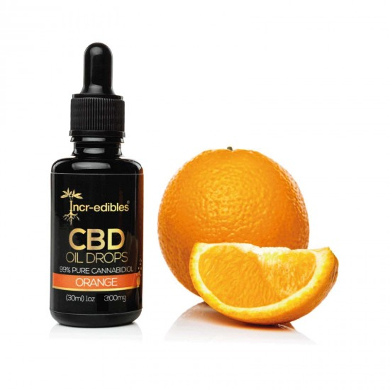 Orange CBD Oil Drops 300mg by Incr-edibles
