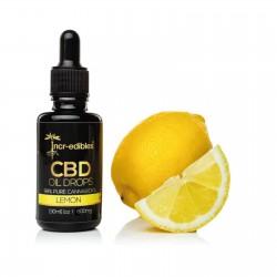Lemon CBD Oil Drops 600mg by Incr-edibles